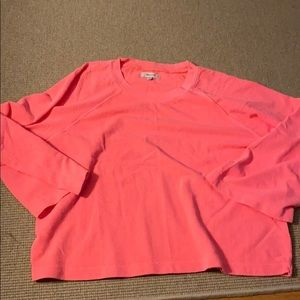 NWOT hot pink Madewell crew
